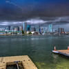 Storm Over Brickell Key, Miami