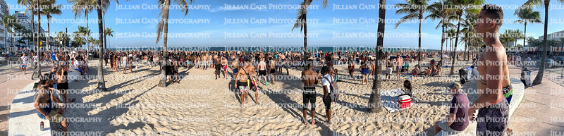 FORT LAUDERDALE, FLORIDA, USA:  College students on spring break enjoying hanging out and socializing with each other as seen on March 5, 2020.