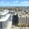 Beautiful aerial view of downtown Fort Lauderdale skyline, looking east to the beach.