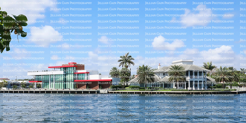 Different styles of waterfront architecture homes, modern and traditional located in Fort Lauderdale Florida, USA.