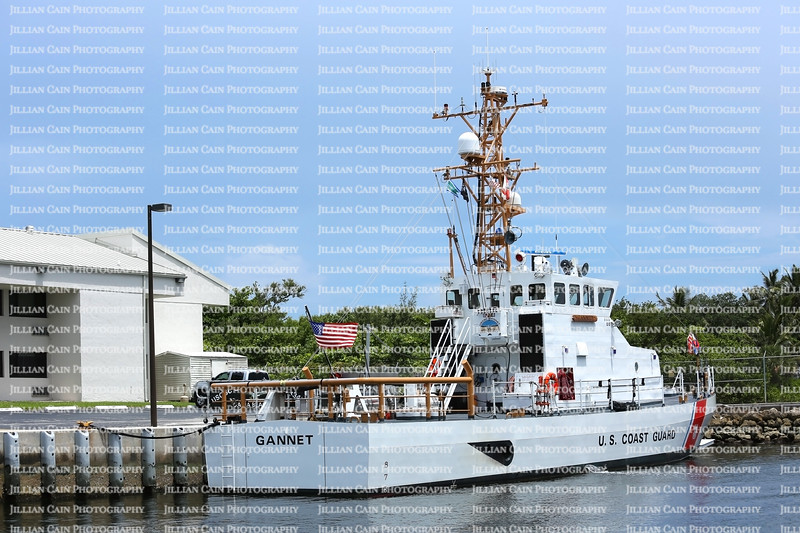 The Gannet, the United States Coast Guards 87 foot Marine Protector docked at Station Fort Lauderdale.