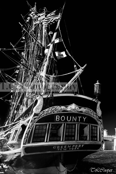 HMS Bounty in B&W