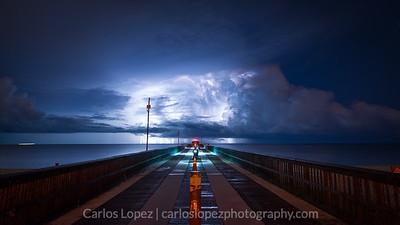 Pompano Pier Storm