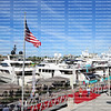Aerial view of boat show guests enjoying the exhibits of the 59th Fort Lauderdale International Boat Show at Bahia Mar.