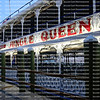 EDITORIAL USE ONLY:     Close up of the Jungle Queen Riverboat docked at their private island during the dinner cruise and show.