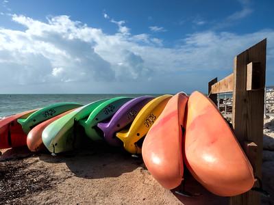 Kayaks at the Ready, Bahia Honda Key, Florida  (39776)