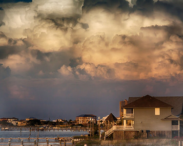 2 beach view clouds bldgs beach-