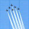 FORT LAUDERDALE, FLORIDA, USA:   Blue Angels fly over Broward Health Hospital in honor of Covid-19 frontline workers.  Operation AMERICA STRONG salute healthcare & essential workers  as seen on May 8, 2020.
