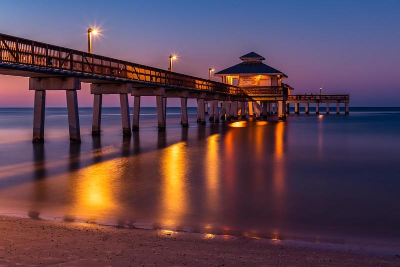 Ft Myers Beach Pier at Sunrise