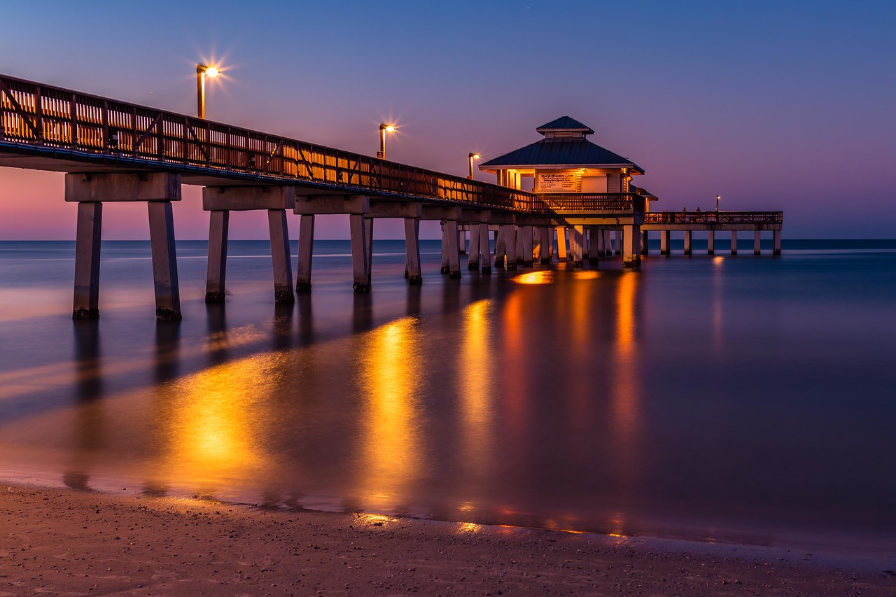 Ft Myers Beach Pier at Sunrise