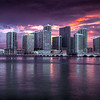 Sunset, Miami Skyline