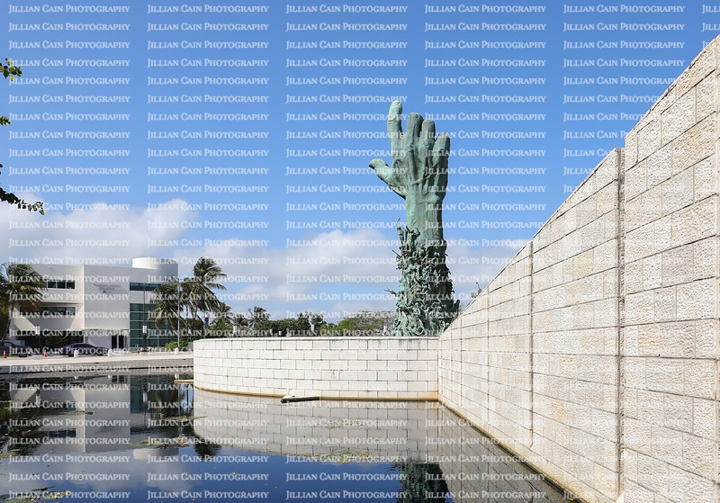 MIAMI BEACH, FLORIDA, USA:  Holocaust Memorial in Miami Beach, created by sculpture Kenneth Treister, as seen on February 6, 2020.