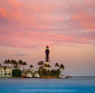 Pink over Lighthouse Point