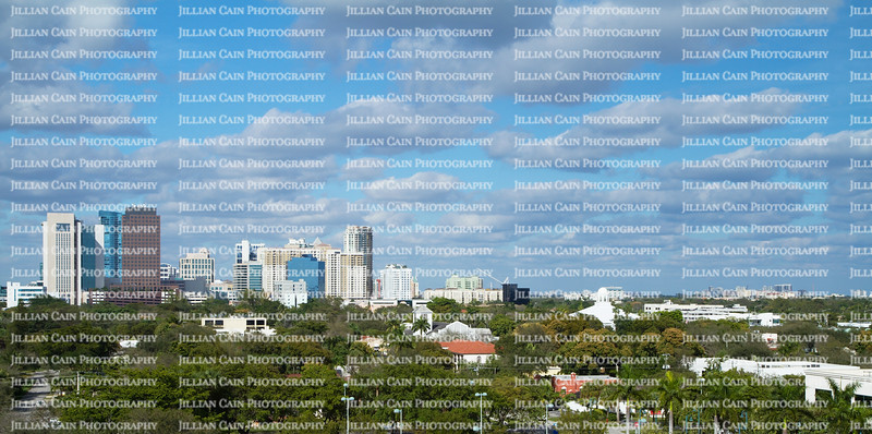 Dramatic scenic view of downtown Fort Lauderdale, Florida, USA