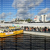 Water Taxi stops to pick up passengers at the Fort Lauderdale International Boat Show Bahia Mar location.