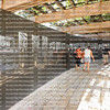 MIAMI BEACH, FLORIDA, USA:  Visitors walk by the Holocaust Memorial Wall, lined with names of Holocaust victims as seen on February 6, 2020.