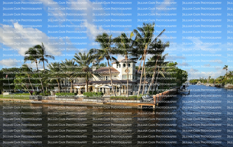 Exquisite waterfront home on the Intracoastal Waterway in Fort Lauderdale, Florida, USA.