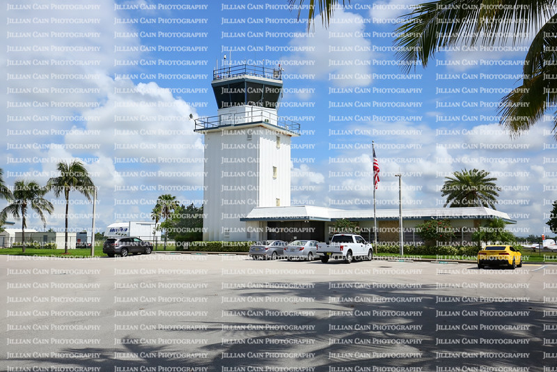 EDITORIAL USE ONLY:   Control Tower at the Pompano Beach Airpark.  Airpark is popular airport for flight training school, search and rescue, and aerial photography.