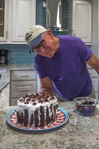 Marty Cook, star baker with his Black Forest cake