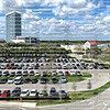 EDITORIAL USE ONLY:   Aerial view of Sawgrass Mills Outlet Mall stores and parking lot.  Sawgrass Mills Outlet Mall is Florida's second-most-popular attraction.