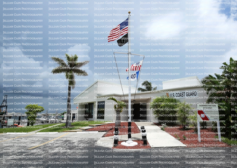 US Coast Guard, Station Fort Lauderdale, the Headquarters building, adjacent to Port Everglades, in the Dr. Von D. Mizell and Eula Johnson State Park.