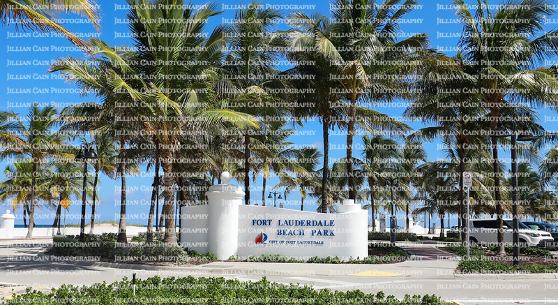 Fort Lauderdale Public Beach Park located on A1A on the Fort Lauderdale Beach.