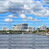 Panoramic view of Fort Lauderdale's downtown skyline and intracoastal waterway luxury homes.