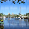 View of historic Sailboat Bend Waterfront District, adjacent to Las Olas Boulevard, it is the oldest neighborhood in Fort Lauderdale, Florida, USA.