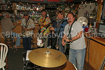 Marty, Steve Phillippe, Alan Andrews & unknown guitar player  Pineapple Joe's Open Mic