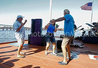 Boogying on the boardwalk to music of Melinda Elena band