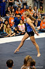 (Casey Brooke Lawson / Gator Country) UF senior Corey Hartung showcases floor skills during the University of Florida gymnastics fan day in Gainesville, Fla., on January 4, 2009.