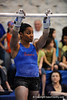 (Casey Brooke Lawson / Gator Country) UF junior Melanie Sinclair prepares for a bar demonstration during the University of Florida gymnastics fan day in Gainesville, Fla., on January 4, 2009.