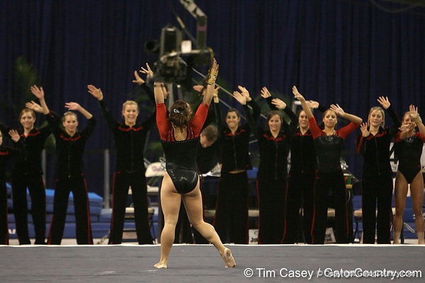 photo by Tim Casey<br /> <br /> University of Georgia gymnast Courtney McCool during the Gators' 196.850-196.825 loss to the Georgia Bulldogs on Friday, January 18, 2008 at the Stephen C. O'Connell Center in Gainesville, Fla.