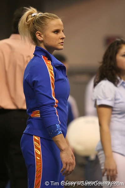 photo by Tim Casey<br /> <br /> Florida sophomore gymnast Ashley Kerr (Plant City)during the Gators' 196.850-196.825 loss to the Georgia Bulldogs on Friday, January 18, 2008 at the Stephen C. O'Connell Center in Gainesville, Fla.