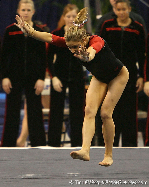 photo by Tim Casey<br /> <br /> Georgia gymnast Courtney Kupets during the Gators' 196.850-196.825 loss to the Georgia Bulldogs on Friday, January 18, 2008 at the Stephen C. O'Connell Center in Gainesville, Fla.