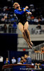 (Casey Brooke Lawson / Gator Country) Senior Corey Hartung competes on vault during the Gators victory over the Oklahoma Sooners in Gainesville, Fla., on January 9, 2009.