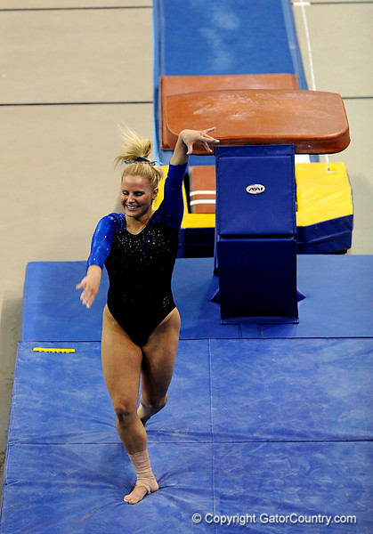 (Casey Brooke Lawson / Gator Country) Junior Courtney Gladys competes on vault during the Gators victory over the Oklahoma Sooners in Gainesville, Fla., on January 9, 2009.