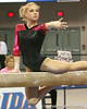 photo by Tim Casey<br /> <br /> Florida senior Corey Hartung earns a 9.9 on the beam during the Gators' 195.925-193.850 win against the Kentucky Wildcats on Friday, January 30, 2009 at the Stephen C. O'Connell Center in Gainesville, Fla.
