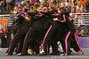 photo by Tim Casey<br /> <br /> Florida gymnasts huddle after the Gators' 195.925-193.850 win against the Kentucky Wildcats on Friday, January 30, 2009 at the Stephen C. O'Connell Center in Gainesville, Fla.