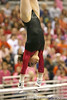 photo by Tim Casey<br /> <br /> Florida junior Amanda Castillo earns a 9.85 on the bars during the Gators' 195.925-193.850 win against the Kentucky Wildcats on Friday, January 30, 2009 at the Stephen C. O'Connell Center in Gainesville, Fla.