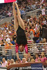 photo by Tim Casey<br /> <br /> Florida freshman Nicole Ellis earns a 9.775 on the vault during the Gators' 195.925-193.850 win against the Kentucky Wildcats on Friday, January 30, 2009 at the Stephen C. O'Connell Center in Gainesville, Fla.
