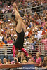 photo by Tim Casey<br /> <br /> Florida freshman Elizabeth Mahlich earns a 9.85 on the vault during the Gators' 195.925-193.850 win against the Kentucky Wildcats on Friday, January 30, 2009 at the Stephen C. O'Connell Center in Gainesville, Fla.
