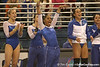 photo by Tim Casey<br /> <br /> Melanie Sinclair cheers during the No. 1-ranked Gators' 196.50-196.25 win against the No. 4-ranked Auburn Tigers on on Friday, January 16, 2009 at the Stephen C. O'Connell Center in Gainesville, Fla.