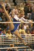 photo by Tim Casey<br /> <br /> Florida senior Corey Hartung warms up on the uneven bars during the No. 1-ranked Gators' 196.50-196.25 win against the No. 4-ranked Auburn Tigers on on Friday, January 16, 2009 at the Stephen C. O'Connell Center in Gainesville, Fla.