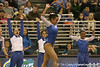 photo by Tim Casey<br /> <br /> Florida junior Maranda Smith earns a 9.9 on the floor exercise during the No. 1-ranked Gators' 196.50-196.25 win against the No. 4-ranked Auburn Tigers on on Friday, January 16, 2009 at the Stephen C. O'Connell Center in Gainesville, Fla.