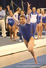 photo by Tim Casey<br /> <br /> Florida freshman Nicole Ellis earns a 9.85 on the vault during the No. 1-ranked Gators' 196.50-196.25 win against the No. 4-ranked Auburn Tigers on on Friday, January 16, 2009 at the Stephen C. O'Connell Center in Gainesville, Fla.
