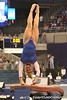 photo by Tim Casey<br /> <br /> Florida freshman Kailey Tissue performs on the vault during the No. 1-ranked Gators' 196.50-196.25 win against the No. 4-ranked Auburn Tigers on on Friday, January 16, 2009 at the Stephen C. O'Connell Center in Gainesville, Fla.
