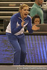 photo by Tim Casey<br /> <br /> Kailey Tissue cheers during the No. 1-ranked Gators' 196.50-196.25 win against the No. 4-ranked Auburn Tigers on on Friday, January 16, 2009 at the Stephen C. O'Connell Center in Gainesville, Fla.