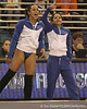 photo by Tim Casey<br /> <br /> Maranda Smith and Amanda Castillo cheer during the No. 1-ranked Gators' 196.50-196.25 win against the No. 4-ranked Auburn Tigers on on Friday, January 16, 2009 at the Stephen C. O'Connell Center in Gainesville, Fla.