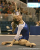 photo by Tim Casey<br /> <br /> Florida senior Corey Hartung earns a 9.950 on the floor exercise during the No. 1-ranked Gators' 196.50-196.25 win against the No. 4-ranked Auburn Tigers on on Friday, January 16, 2009 at the Stephen C. O'Connell Center in Gainesville, Fla.